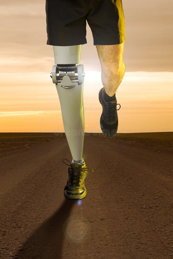 Pierna robótica ortopédica imagen de archivo libre de regalías