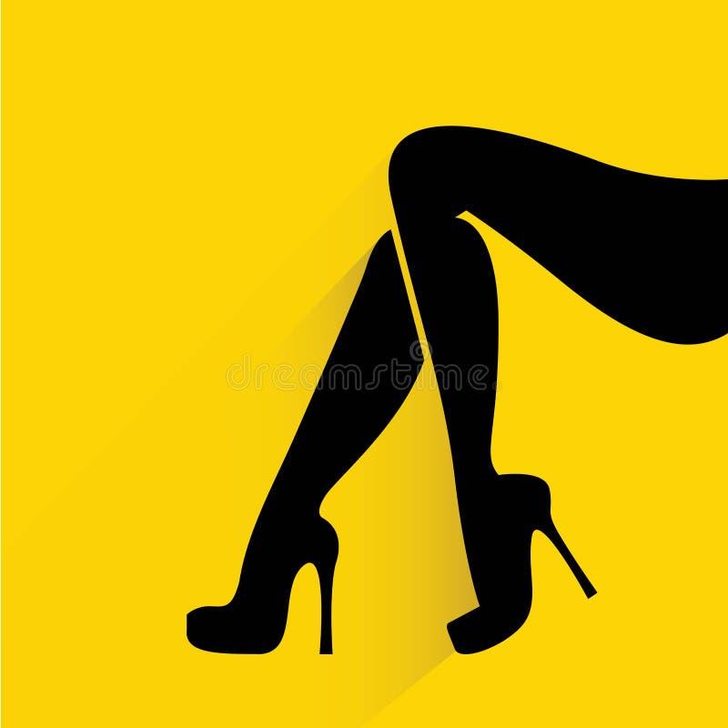 Piernas de las mujeres stock de ilustración