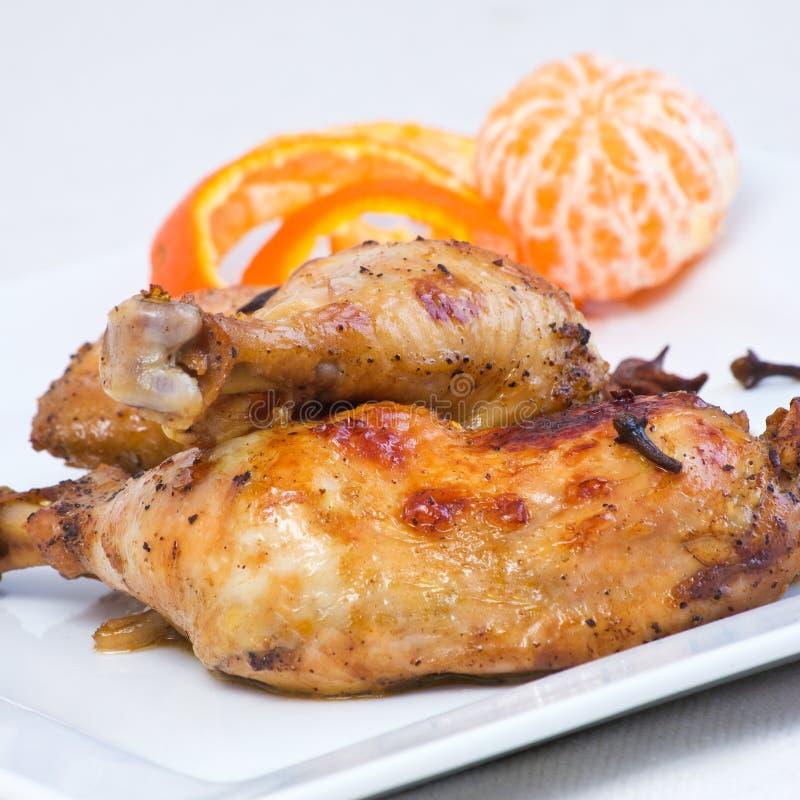 Piernas de pollo en estilo oriental imagen de archivo