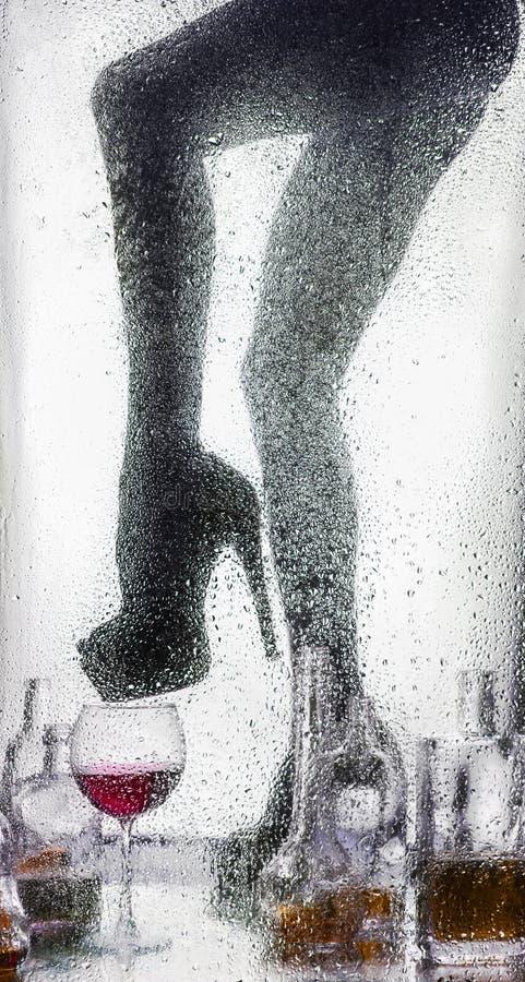 Piernas de una muchacha desnuda hermosa imagen de archivo libre de regalías