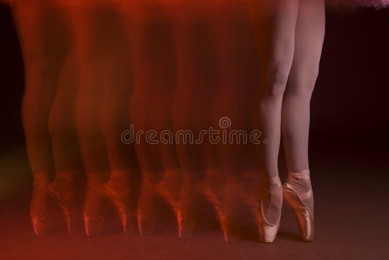 Piernas del ballet fotografía de archivo