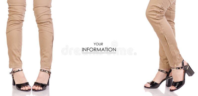 Piernas femeninas en modelo determinado de la laca de los pantalones de la obra clásica de los zapatos del estilo de la moda de b imágenes de archivo libres de regalías