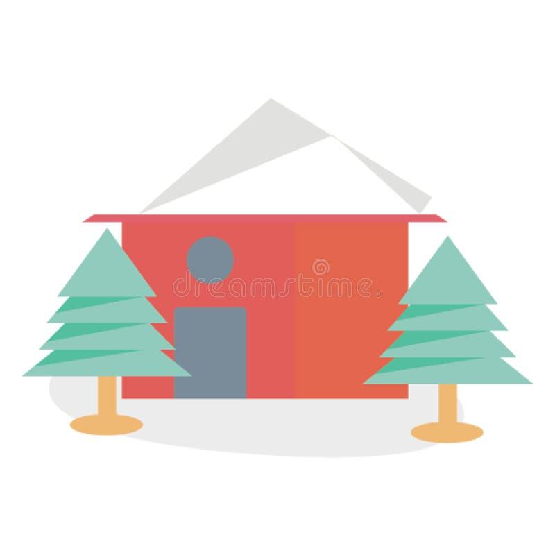 Piernikowego domu koloru Wektorowa ikona Łatwo redaguje lub modyfikuje zdjęcia stock