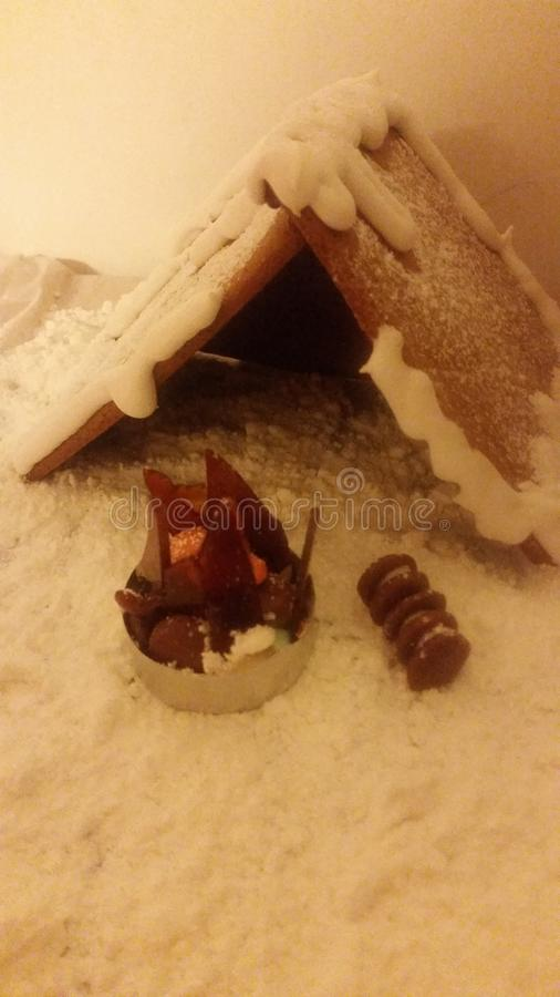 Piernikowego domu zima zdjęcia stock