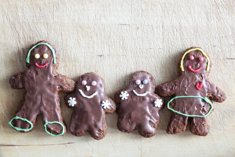 Piernikowi ciastka rodzinni Handmade w domu zdjęcie stock
