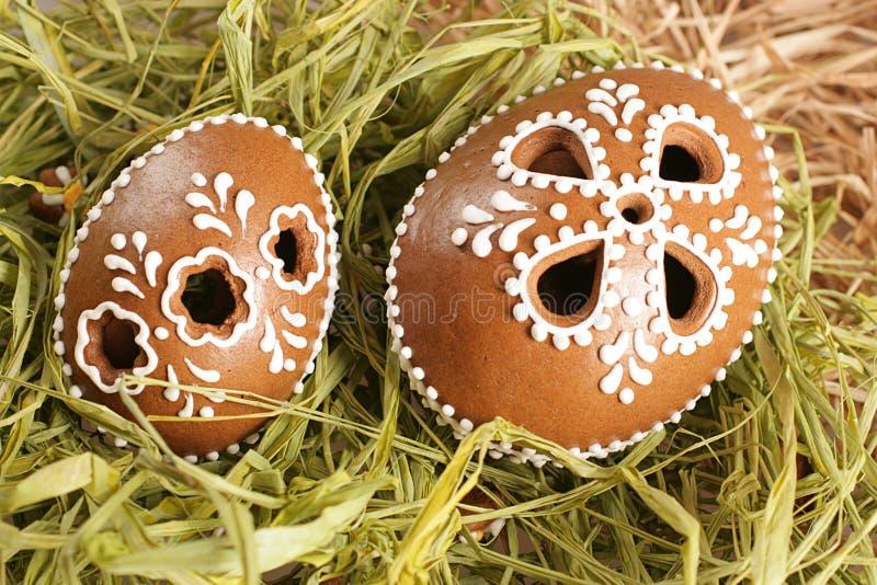 piernikowi Easter jajka zdjęcia royalty free