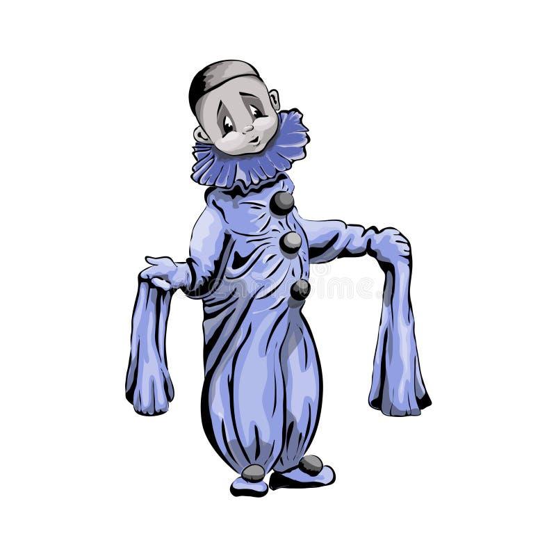 Piero malte Charakter auf einem weißen Hintergrund lizenzfreie abbildung
