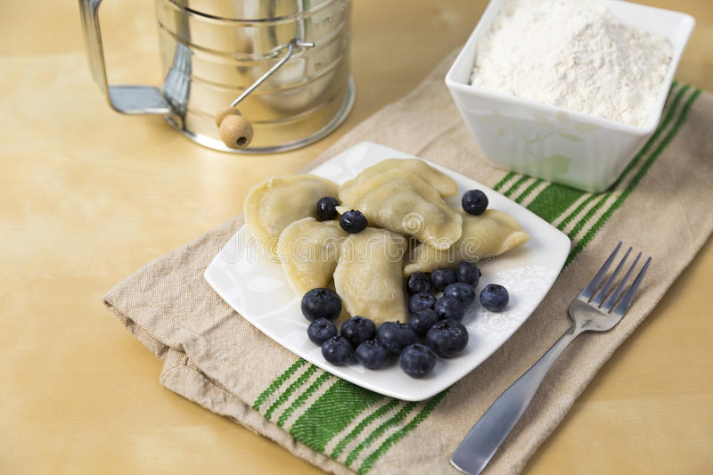 Pierogi de Bluberry images libres de droits