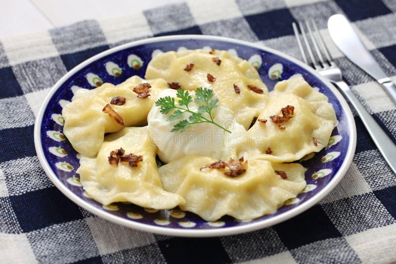 Pierogi-Mehlklöße, polnisches Lebensmittel stockfotos