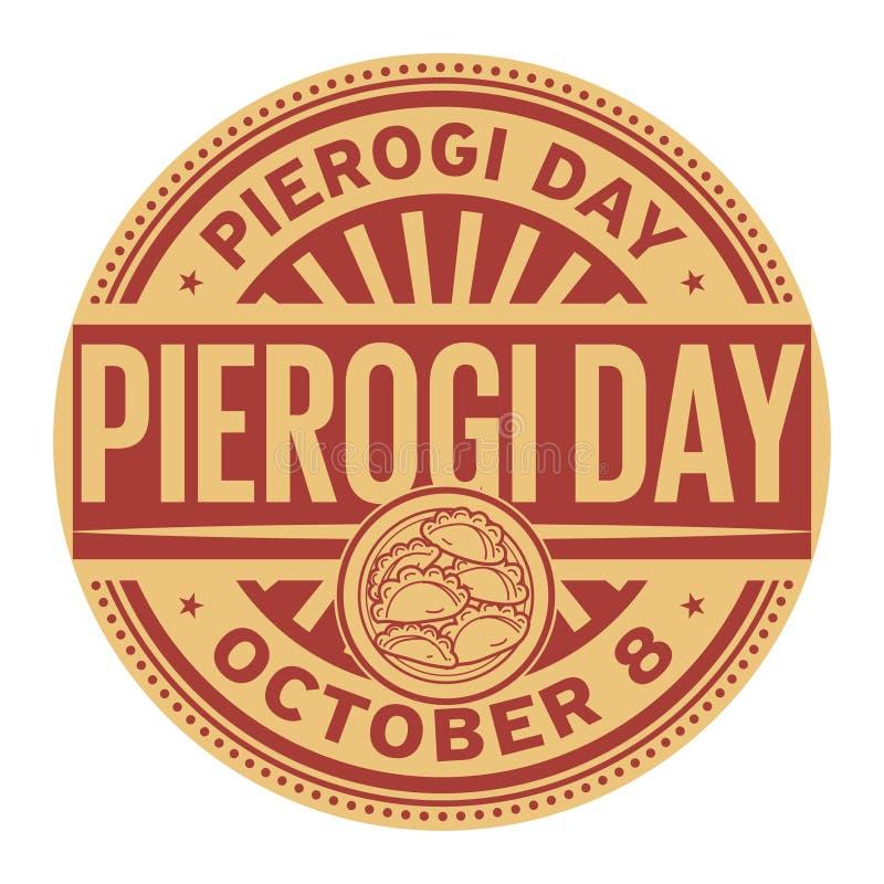 Pierogi-Tag, am 8. Oktober vektor abbildung