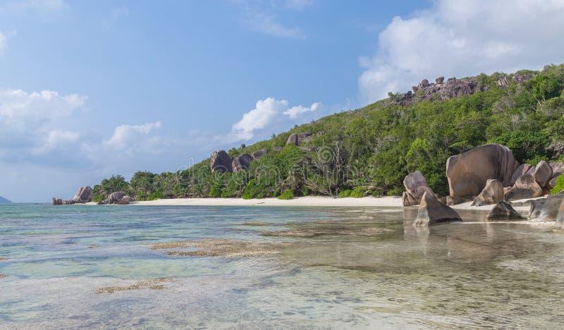 Pierrô de Anse no La Digue Seychelles imagens de stock
