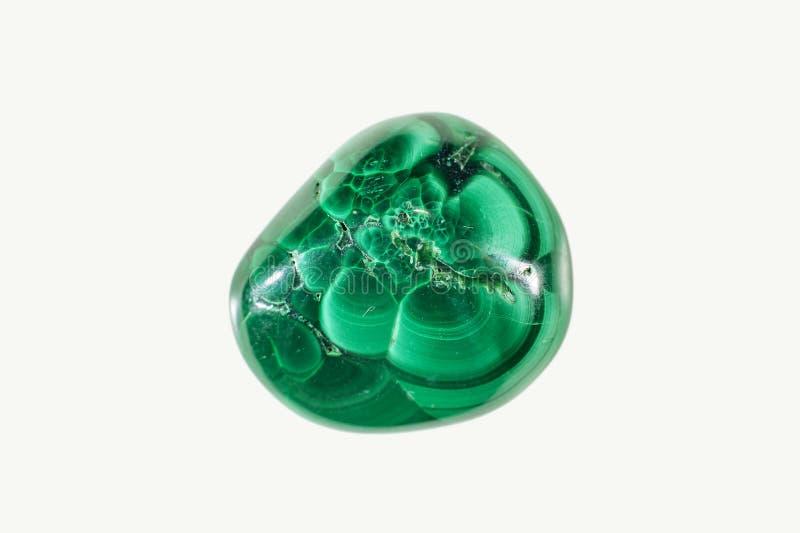 Pierre arrondie de cristal de malachite images libres de droits