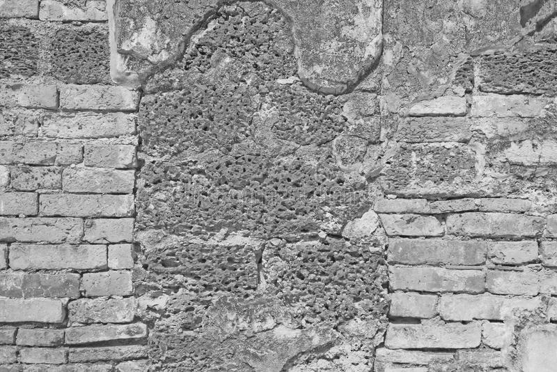 Pierre blanche de mur de briques et de latérite photo libre de droits