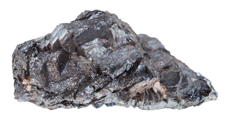 Pierre crue de minerai de fer d'hématite d'isolement images stock