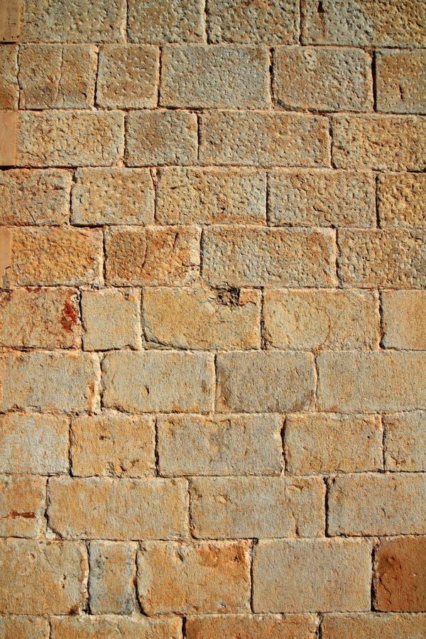 Pierre découpée de mur de maçonnerie de château photographie stock