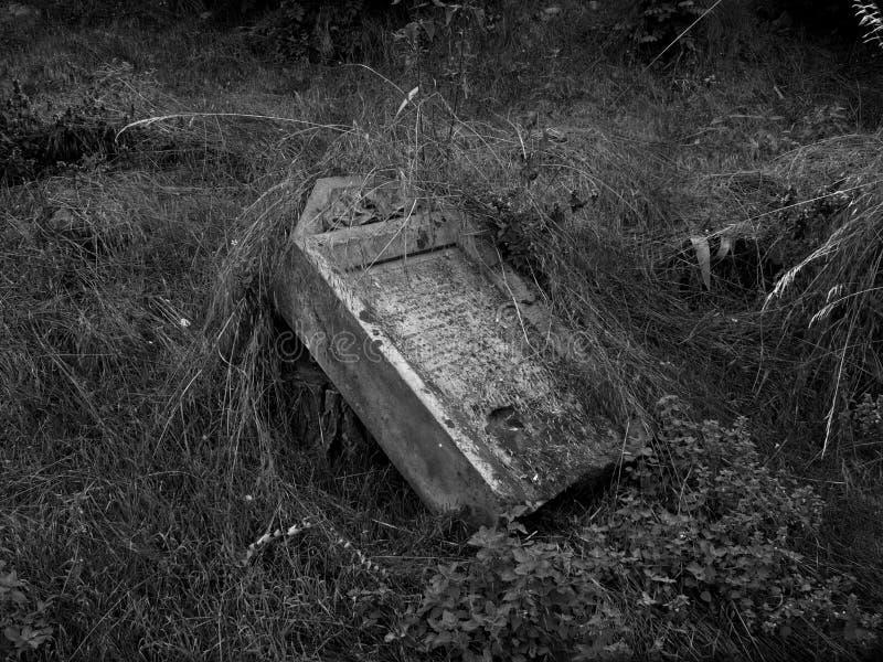 Pierre de cimetière images stock