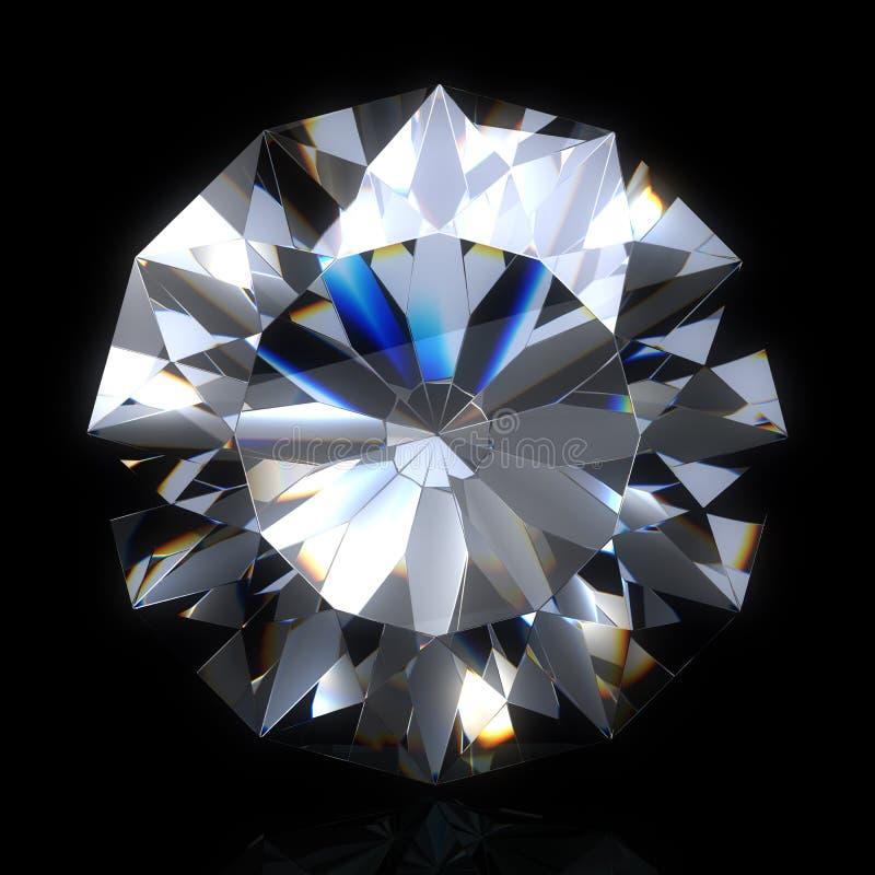 Pierre de diamant sur l'espace noir illustration de vecteur