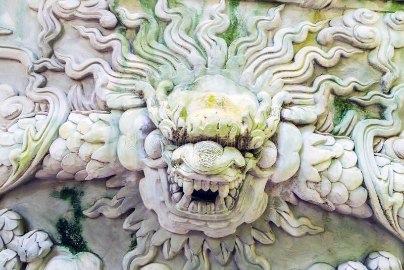 Pierre de dragon décorative photographie stock