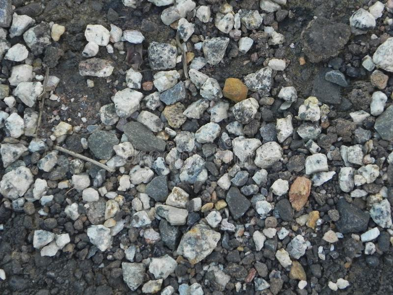 Pierre de matériel de texture de gravier de granit photographie stock