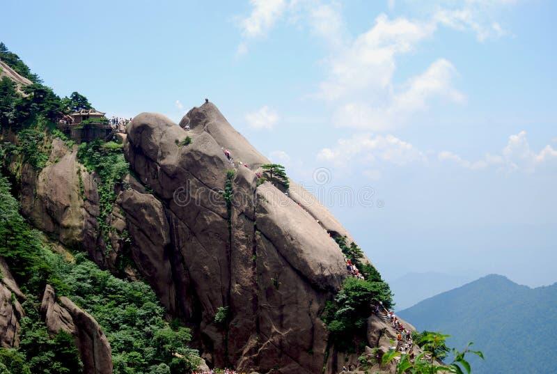 Pierre de montagne de Huangshan photos libres de droits