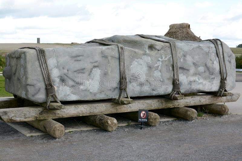 Pierre de Stonehenge Sarsen photos libres de droits