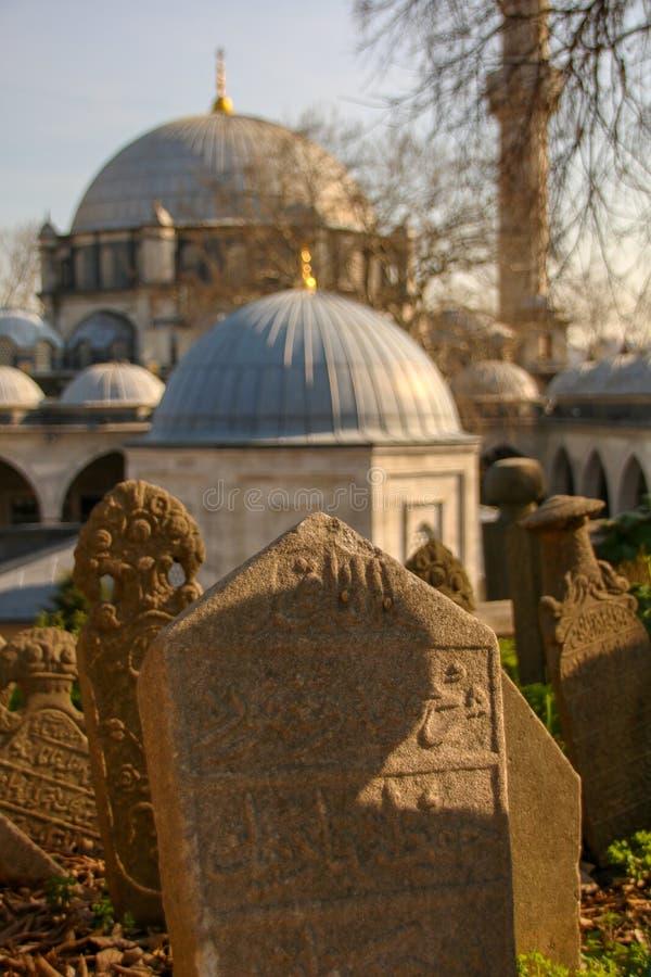 Pierre de tombe antique, la période d'Ottoman, Turquie photos stock