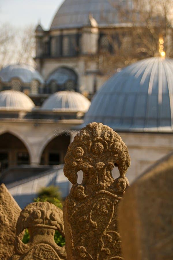 Pierre de tombe antique, la période d'Ottoman, Turquie images stock