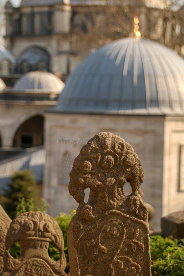 Pierre de tombe antique, la période d'Ottoman, Turquie image stock