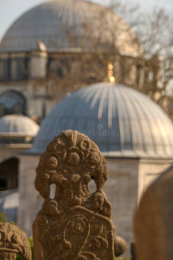 Pierre de tombe antique, la période d'Ottoman, Turquie photo stock