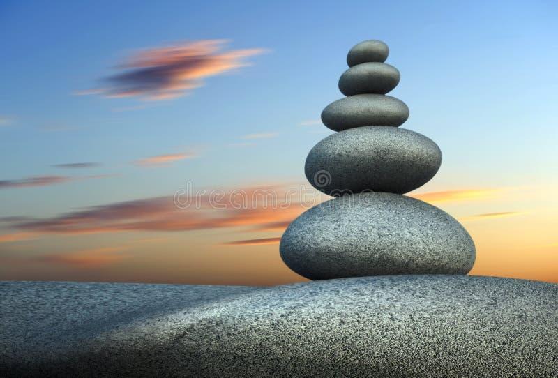 Pierre de tour dans l'équilibre illustration de vecteur