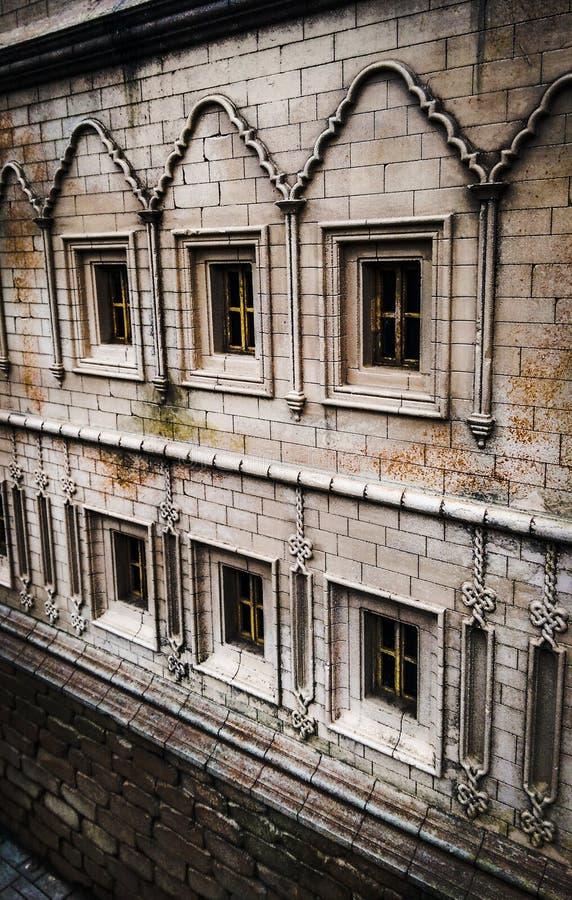 Pierre en pierre de blackground de ville de hd de fenêtre photo libre de droits