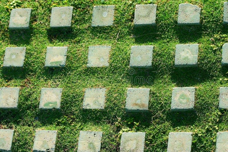 Pierre et herbe de configuration image stock