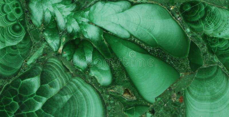Pierre gemme minérale verte de malachite images stock