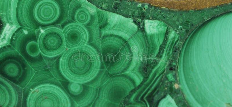 Pierre gemme minérale verte de malachite image libre de droits