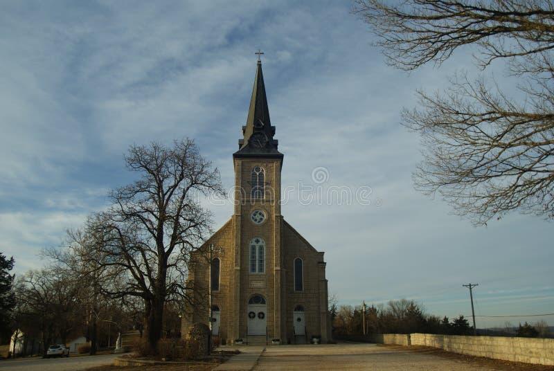 Pierre 1800 gothique du ` s Roman Catholic Church photographie stock