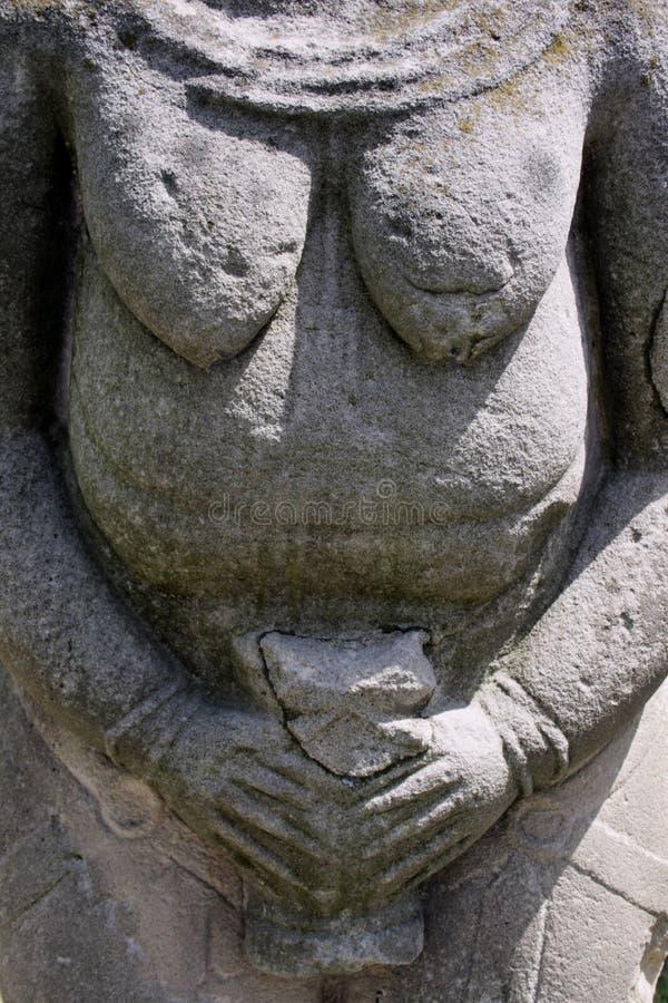 pierre kurgan de stelae de groupe anthropomorphe images libres de droits