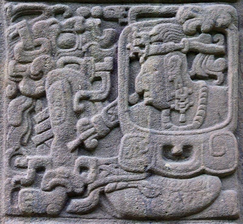 pierre maya antique d'allégements image libre de droits