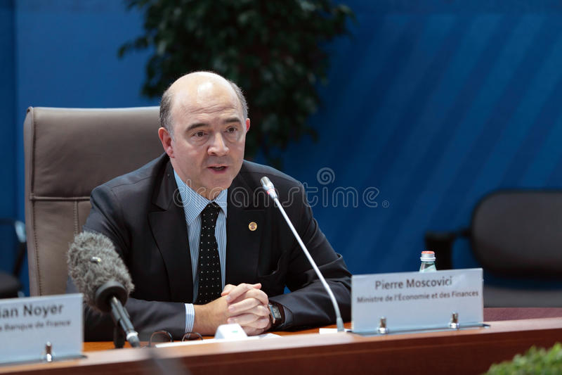 Pierre Moscovici royalty-vrije stock foto's