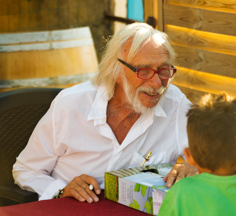 Pierre Richard at his winery royalty free stock photography