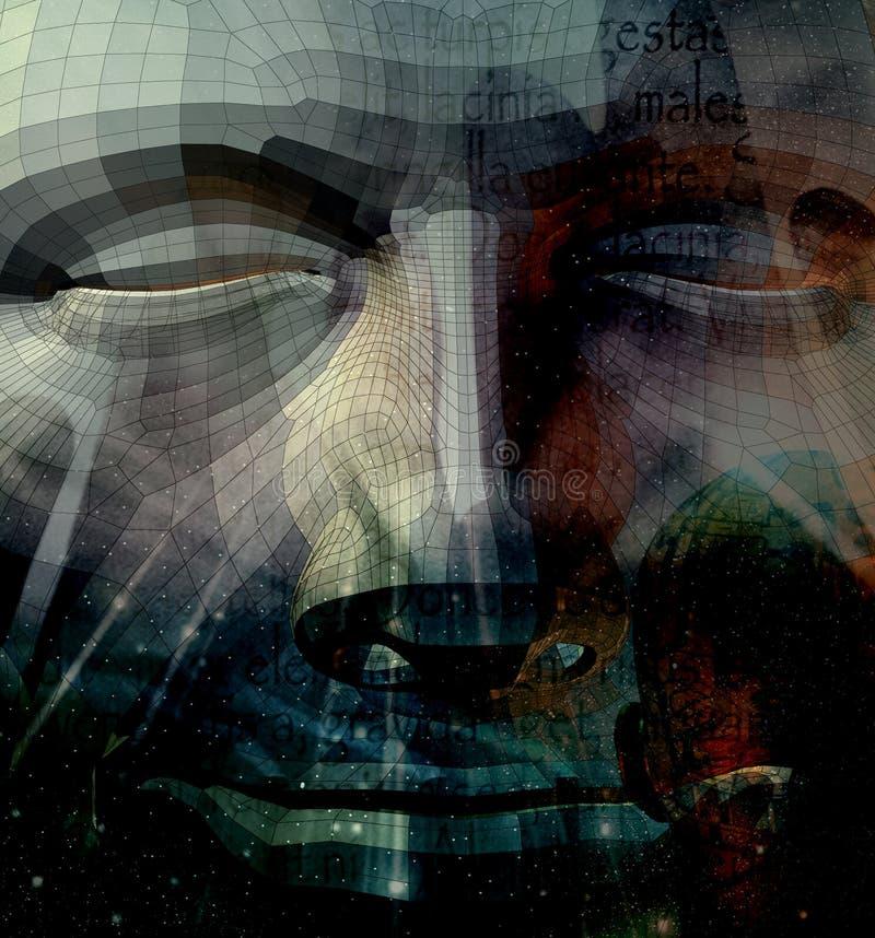 Pierre spirituelle illustration libre de droits