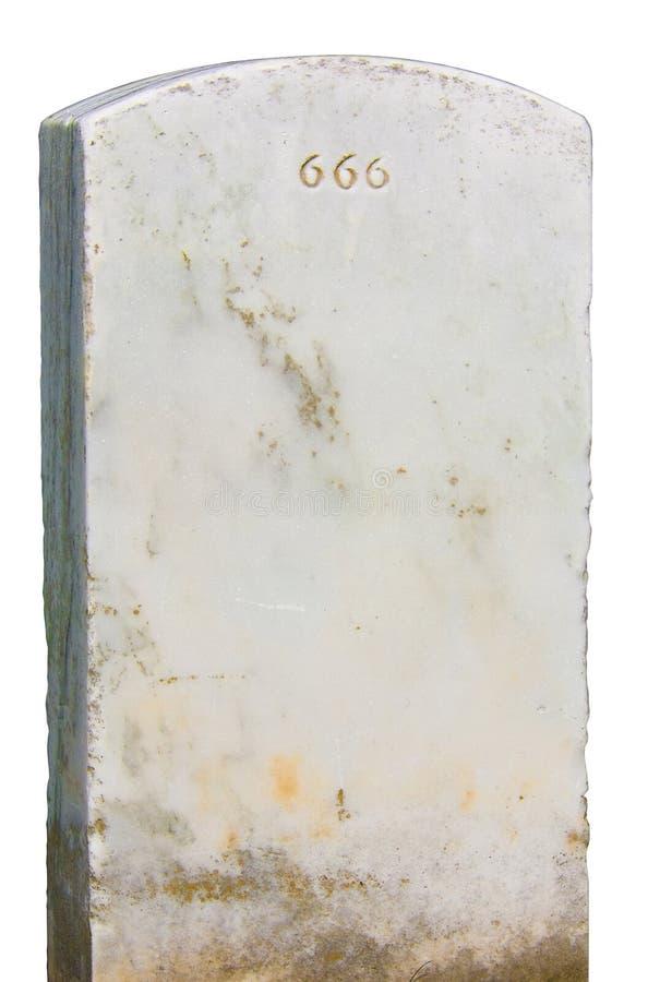 Pierre tombale 666 photos stock