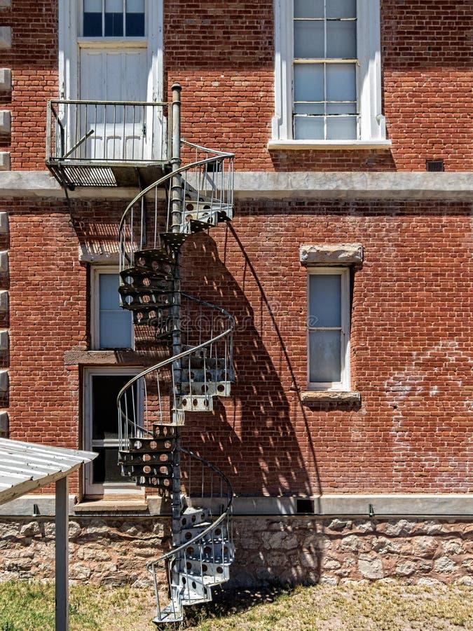Pierre tombale, Arizona, escalier en spirale de tribunal du comté photographie stock