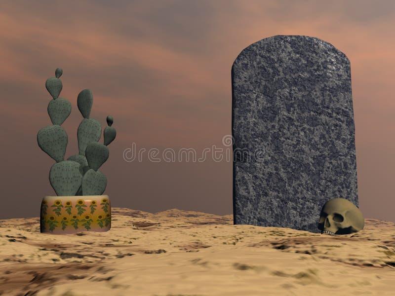 Pierre tombale - 3D rendent illustration de vecteur