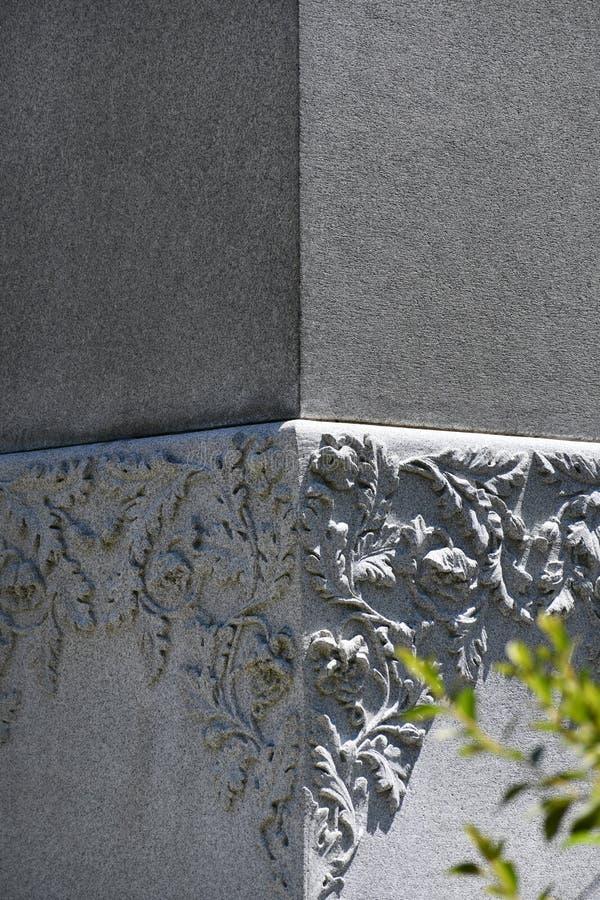Pierre tombale de cimetière au cimetière historique de Savannah Georgia photo libre de droits