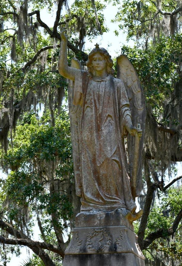 Pierre tombale de cimetière au cimetière historique de Savannah Georgia photos stock