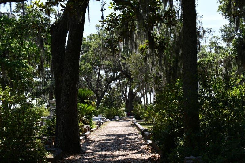 Pierre tombale de cimetière au cimetière historique de Savannah Georgia photos libres de droits
