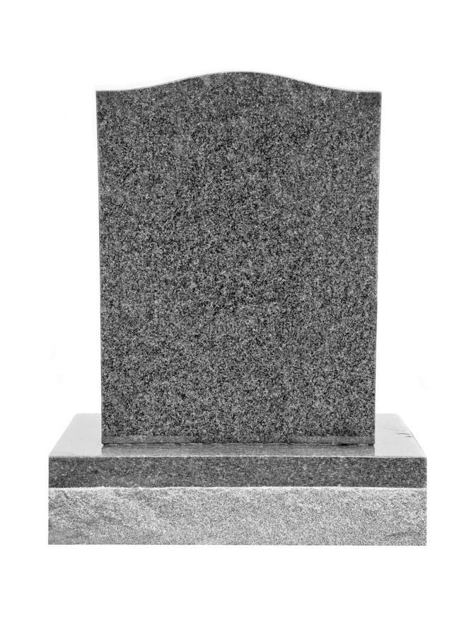 Pierre tombale de granit images stock