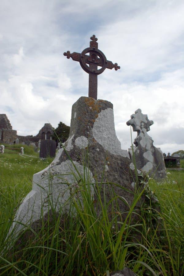 Pierre tombale de l'Irlande images libres de droits