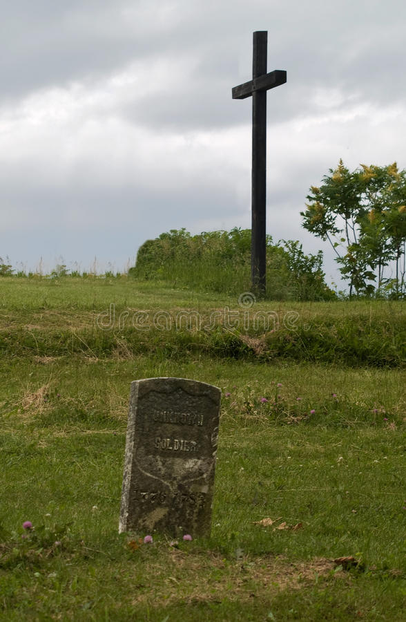 Pierre tombale de soldat inconnu images libres de droits