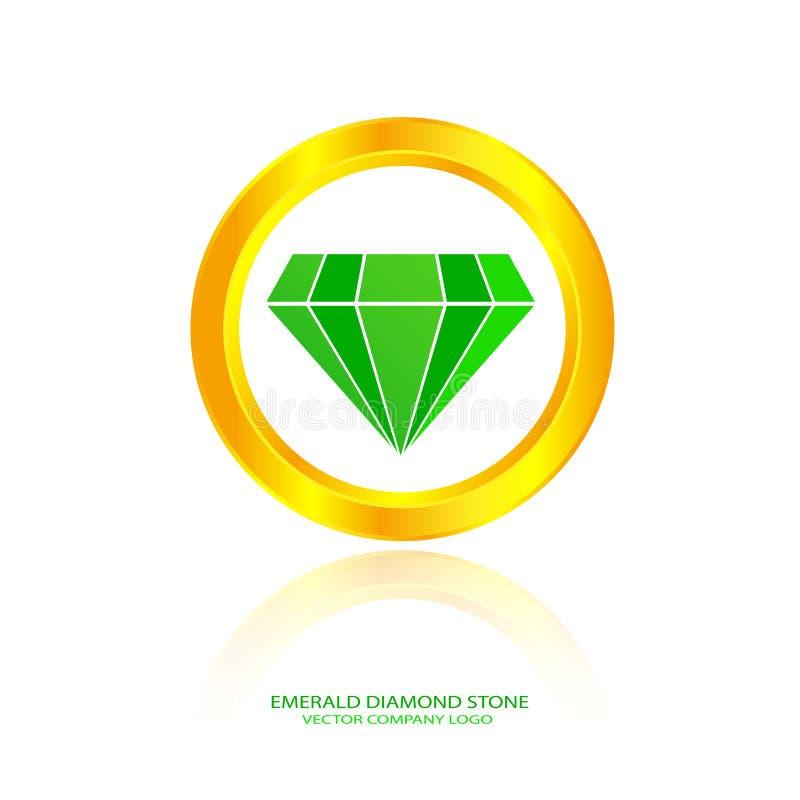 Pierre verte de diamant illustration libre de droits